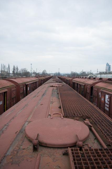 Opuštěné vlakové nádraží Brno – opuštěné vagony
