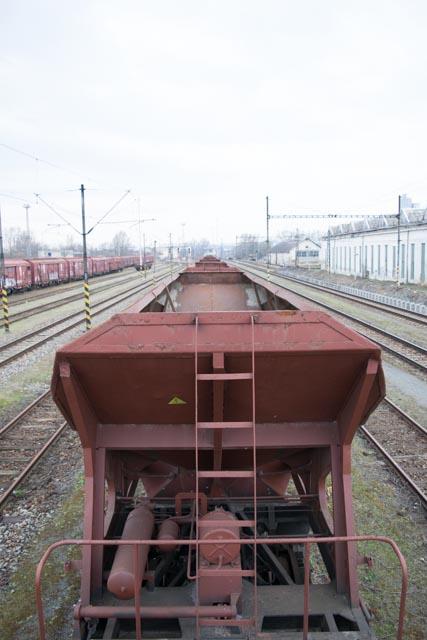 Opuštěné vlakové nádraží Brno