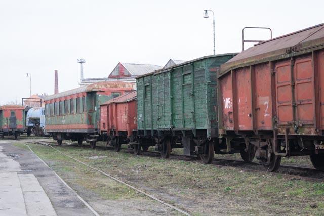 Opuštěné nádraží v Brně.