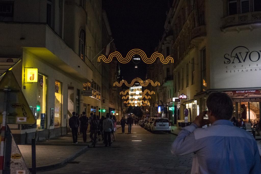 Centum města Brna v noci