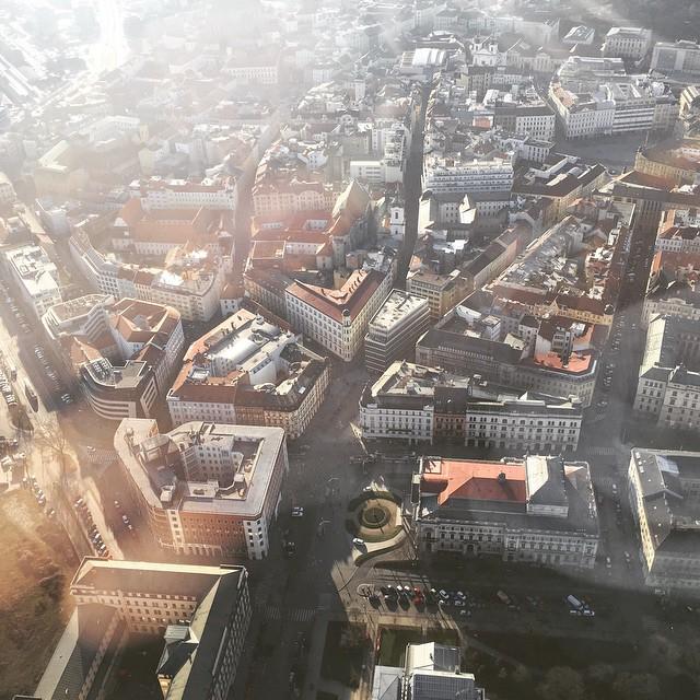 Brno z ptačí perspektivy