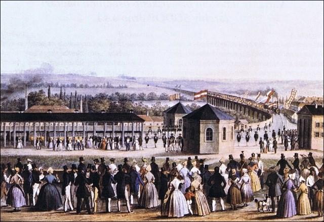 Slavnostní příjezd prvního vlaku do Brna