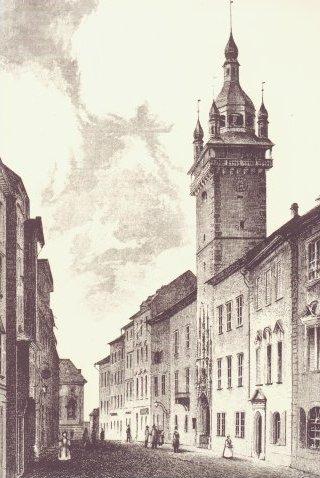 Stará radnice, Brno 1842