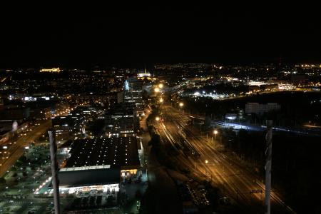 Noční Brno ze střechy AZ tower