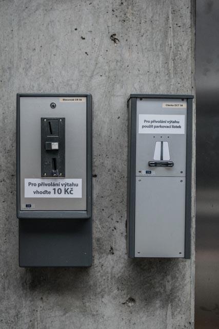 Placený výtah v Brně