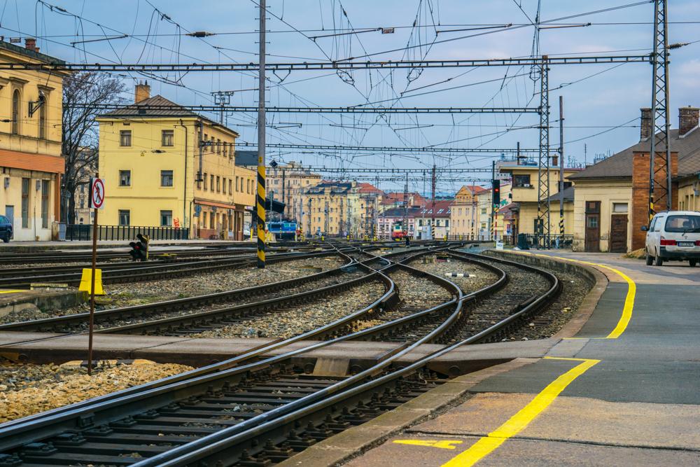 Vlaky na Hlavním nádraží Brno