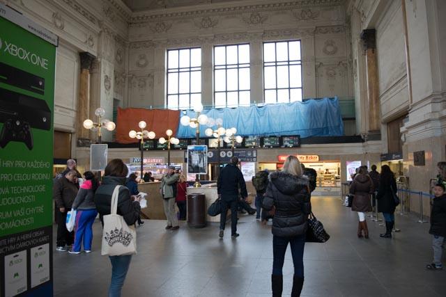 Interiér hlavního nádraží Brno