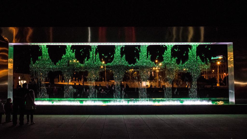 Fontána před Jánáčkovým divadlem