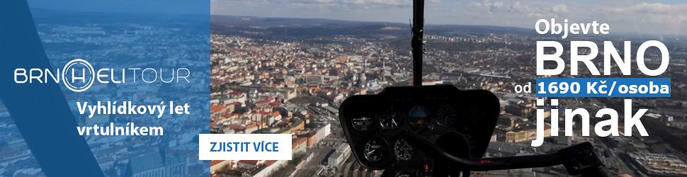 Vyhlíčkový let vrtulníkem v Brně