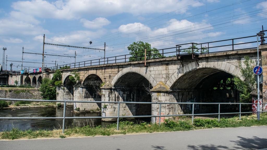 Brněnský viadukt přes řeku Svratku