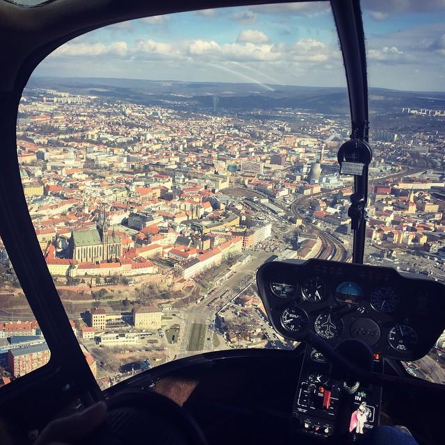 Brno z helikoptéry